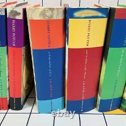 Harry Potter Ensemble Complet De Livres 1-7 Tous Hardback 1ère Édition Bloomsbury Rowling