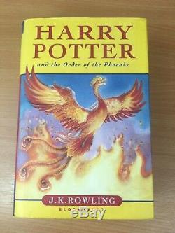 Harry Potter Ensemble Complet De Livres À Couverture Rigide Avec Premières Éditions Et Toutes Les Jaquettes