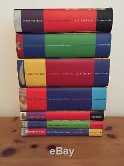 Harry Potter Ensemble Complet De Livres Cartonnés Originaux, Première Édition Au Royaume-uni