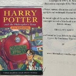Harry Potter Ensemble Complet De Livres De La 1ère Édition Hardback Bloomsbury Par Jk Rowling