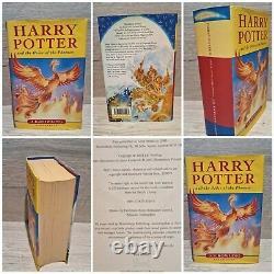 Harry Potter Ensemble Complet De Livres Hardback Bloomsbury 1ère Édition Jk Rowling