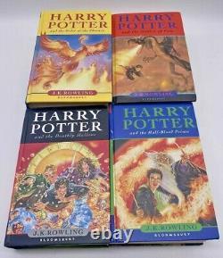 Harry Potter Ensemble De Livres Bloomsbury All Hardback Royaume-uni Première Édition Complete 1-7