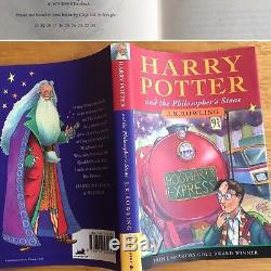 Harry Potter Ensemble De Livres Cartonnés Complets, Première Édition, Blousons Bloomsbury