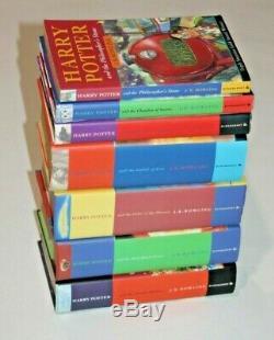 Harry Potter Livres Complete Set Original Jk Rowling 2x Première Édition 6x Hc 1x Pb