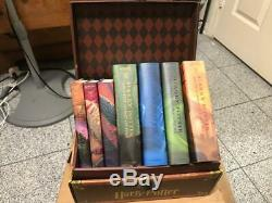Harry Potter Relié Complete Set Collection Avec La Boîte-ouverte Boîte En Bois