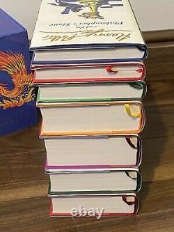 Harry Potter Signature Edition Hardback Tous Les 2èmes Tirages Coffret Complet + Extras