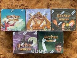 Harry Potter Tcg Trading Card Booster Boîte Complète De 5 Wotc 2001-2002