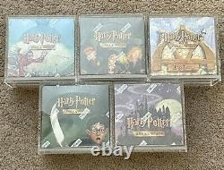 Harry Potter Tcg Trading Card Game Booster Box Ensemble Complet De 5 Wotc 2001-2002