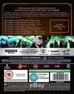 Harry Potter The Complete Collection 4k + Uhd Téléchargements Nouvelle Et Scellée