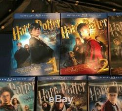 Harry Potter Ultimate Edition Années 1-7 Collection Complète De Blu-ray Rare Oop