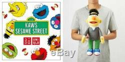 Kaws X Uniqlo Sesame Street Limited Boîte Complète Et Article Spécial 100% Authentique