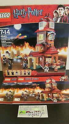 Lego 4840 Harry Potter Le Terrier 100% Complet Avec Minifigs, Manuels & Autocollants
