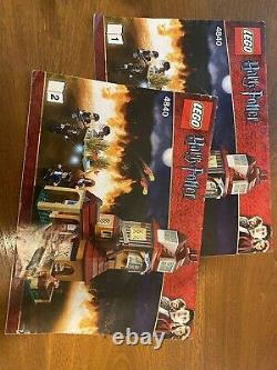 Lego 4840 Harry Potter Le Terrier Ensemble À La Retraite Avec Tous Les Minifigures
