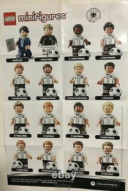 Lego 71014 Minifigures Dfb Series, Équipe Nationale Allemande De Football, Ensemble Complet