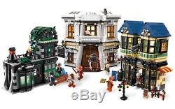 Lego Harry Potter 10217 Diagon Alley 100% Complète Avec Les Figures Mais Pas De Boîte