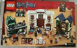 Lego Harry Potter Diagon Alley 10217 100% Complete Rare Orig Boîte Et Instructions