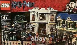 Lego Harry Potter Diagon Alley Set 10217 99% Manuels Boîte Complète Minifigs