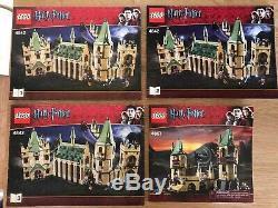 Lot 2 Château Lego Harry Potter Poudlard 4842, Poudlard 4867 Withmanuals Complet