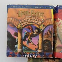 Lot 7 Harry Potter Ensemble Complet Livres Audio CD 1-7 Par Jk Rowling & Jim Dale
