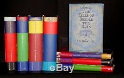Lot 8 Livres Harry Potter Ensemble Complet J. K. Rowling + Bonus Raincoast Hc / Dj Exc