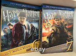Lot De Harry Potter Édition Ultime Années 1-7 Blu-ray Ensemble Complet Rare Oop