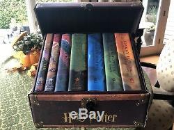 New Harry Potter Relié Complete Box Set Dans Le Coffre Volume 1-7 Brand New Mint