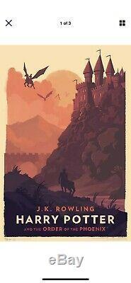 Olly Moss Édition Limitée Harry Potter Imprime Collection Complète De 7, # 1489