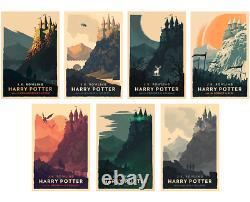 Olly Moss Harry Potter Giclee Prints Ltd. Edition Ensemble Complet De 7 Épuisé