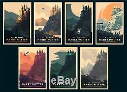 Olly Moss Limited Edition Harry Potter Giclée Prints Collection Complète De 7
