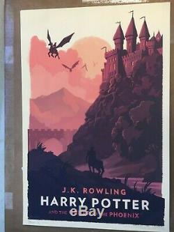Olly Moss Limited Edition Harry Potter Prints Collection Complète De 7