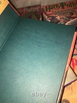 Original Complete Harry Potter Hardcover Book Set #1 7 Jk Rowling 1er Ed Hcdj