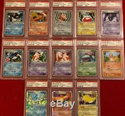 Pokemon 2004 Feu Rouge Feuillage Vert Ex Holo Set Complet 104-116 Psa 10 Gem Mint