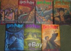 Vg Complete Set De 7 Hc Dj Premières Éditions 1ère Impression Harry Potter De J K Rowling