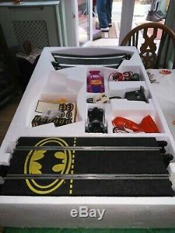 Vintage Batman Et Joker Chase, Ensemble De Scalextric, Complet, Presque Neuf