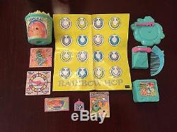Vintage G1 Mon Parti Little Party Pony Mlp Slumber Presque Complet Accessoires Sommeil