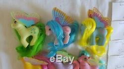 Vintage Mon Petit Poney G1 Windy Wing 100% Lot Complet Avec Peignes Moon Jumper